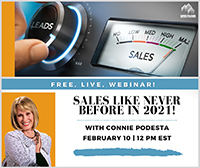 Sales Like Never Before in 2021 Webinar With Connie Podesta