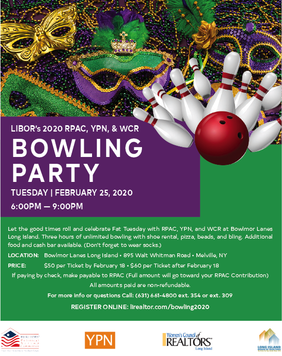 LIBOR/RPAC YPN WRC Bowling Party Feb 25 2020